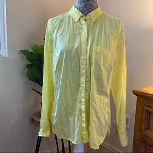Gap 'The Tailored Shirt' Yellow White Button Down